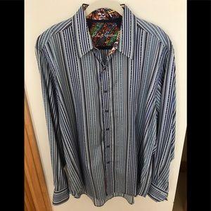 Robert Graham Stripe Shirt - XL